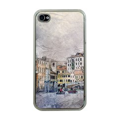 Venice Small Town Watercolor Apple Iphone 4 Case (clear)