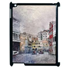 Venice Small Town Watercolor Apple Ipad 2 Case (black)