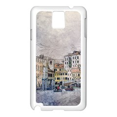 Venice Small Town Watercolor Samsung Galaxy Note 3 N9005 Case (white)