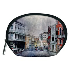 Venice Small Town Watercolor Accessory Pouches (medium)