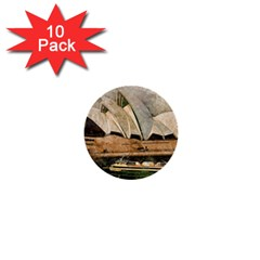 Sydney The Opera House Watercolor 1  Mini Buttons (10 Pack)