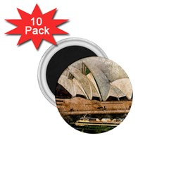 Sydney The Opera House Watercolor 1 75  Magnets (10 Pack)