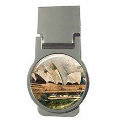 Sydney The Opera House Watercolor Money Clips (round)