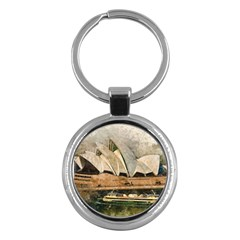 Sydney The Opera House Watercolor Key Chains (round)