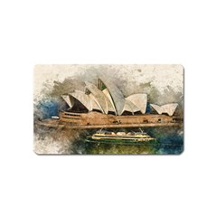 Sydney The Opera House Watercolor Magnet (name Card)