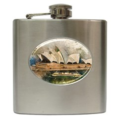 Sydney The Opera House Watercolor Hip Flask (6 Oz)