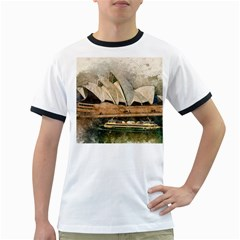 Sydney The Opera House Watercolor Ringer T Shirts