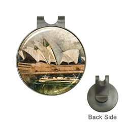 Sydney The Opera House Watercolor Hat Clips With Golf Markers
