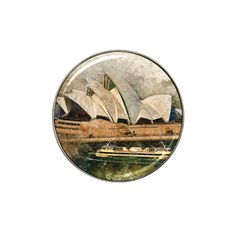 Sydney The Opera House Watercolor Hat Clip Ball Marker (4 Pack)
