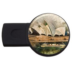 Sydney The Opera House Watercolor Usb Flash Drive Round (4 Gb)