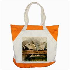 Sydney The Opera House Watercolor Accent Tote Bag