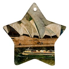 Sydney The Opera House Watercolor Star Ornament (two Sides)