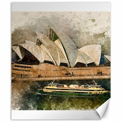 Sydney The Opera House Watercolor Canvas 20  X 24