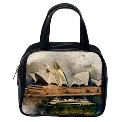Sydney The Opera House Watercolor Classic Handbags (one Side)