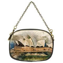 Sydney The Opera House Watercolor Chain Purses (one Side)
