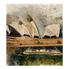 Sydney The Opera House Watercolor Shower Curtain 66  X 72  (large)