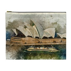 Sydney The Opera House Watercolor Cosmetic Bag (xl)