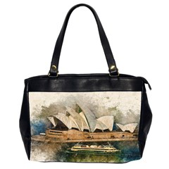 Sydney The Opera House Watercolor Office Handbags (2 Sides)
