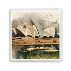 Sydney The Opera House Watercolor Memory Card Reader (square)