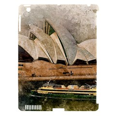 Sydney The Opera House Watercolor Apple Ipad 3/4 Hardshell Case (compatible With Smart Cover)