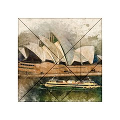 Sydney The Opera House Watercolor Acrylic Tangram Puzzle (4  X 4 )