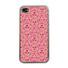 Tribal Pattern Hand Drawing Apple Iphone 4 Case (clear)