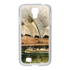 Sydney The Opera House Watercolor Samsung Galaxy S4 I9500/ I9505 Case (white)