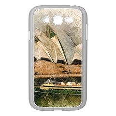 Sydney The Opera House Watercolor Samsung Galaxy Grand Duos I9082 Case (white)