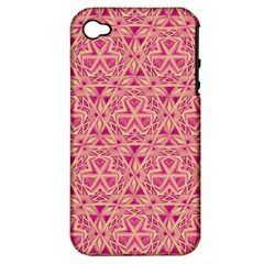 Tribal Pattern Hand Drawing Apple Iphone 4/4s Hardshell Case (pc+silicone)