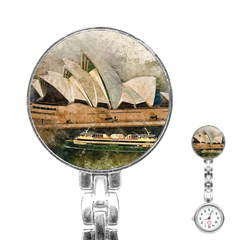 Sydney The Opera House Watercolor Stainless Steel Nurses Watch
