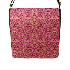 Tribal Pattern Hand Drawing Flap Messenger Bag (l)