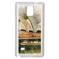 Sydney The Opera House Watercolor Samsung Galaxy Note 4 Case (white)
