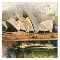 Sydney The Opera House Watercolor Large Satin Scarf (square)