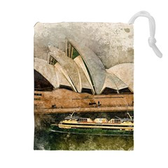 Sydney The Opera House Watercolor Drawstring Pouches (extra Large)