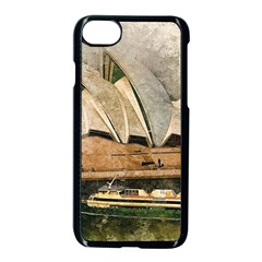 Sydney The Opera House Watercolor Apple Iphone 8 Seamless Case (black)