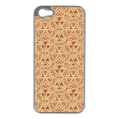 Tribal Pattern Hand Drawing 2 Apple Iphone 5 Case (silver)