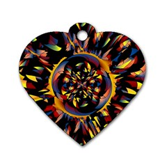 Spiky Abstract Dog Tag Heart (two Sides)