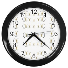 Angels Under The  Sun And Peace Doves Wall Clocks (black)