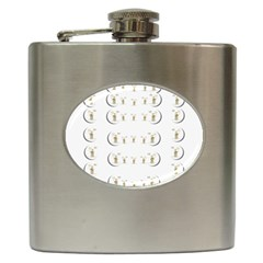 Angels Under The  Sun And Peace Doves Hip Flask (6 Oz)