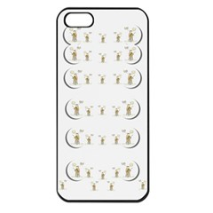 Angels Under The  Sun And Peace Doves Apple Iphone 5 Seamless Case (black)
