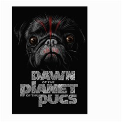 Dawn Of The Planet Of The Pugs Large Garden Flag (two Sides)