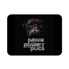 Dawn Of The Planet Of The Pugs Double Sided Flano Blanket (mini)