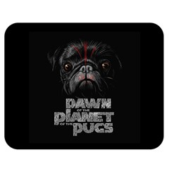 Dawn Of The Planet Of The Pugs Double Sided Flano Blanket (medium)