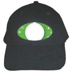 Christmas Bauble Ball Black Cap