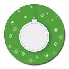 Christmas Bauble Ball Round Mousepads