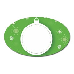 Christmas Bauble Ball Oval Magnet