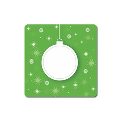 Christmas Bauble Ball Square Magnet