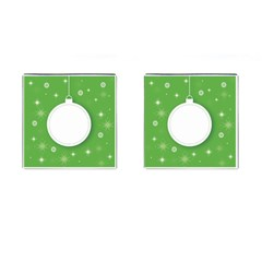 Christmas Bauble Ball Cufflinks (square)