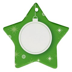 Christmas Bauble Ball Star Ornament (two Sides)