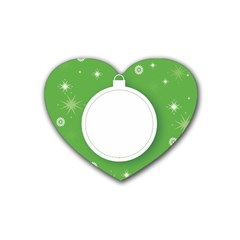 Christmas Bauble Ball Rubber Coaster (heart)